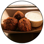 Falafel and Tzatziki Sauce, Kurdish Kitchen Cuisine, Bainbridge Island food truck restaurant